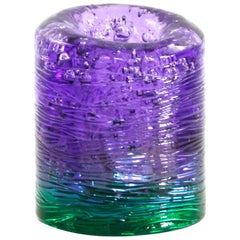 Jungle Contemporary Vase, Small Bicolor Violet and Green by Jacopo Foggini