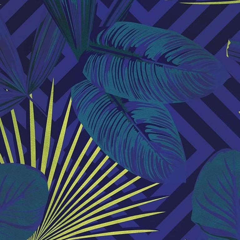 Modern Jungle Dream Purple Panel For Sale