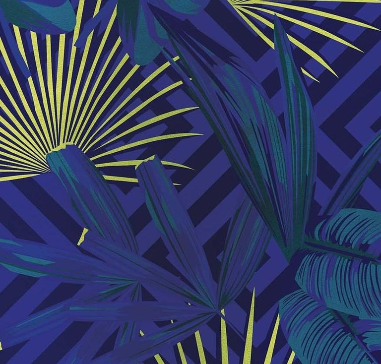 Italian Jungle Dream Purple Panel For Sale