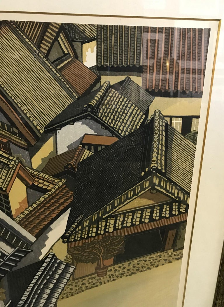 Showa Junichiro Sekino Limited Edition Double Oban Rare Japanese Woodblock Print, 1978 For Sale