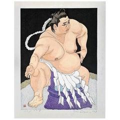 Junichiro Sekino Limited Edition Japanese Woodblock Print Kitanoumi in Dohyo-Iri