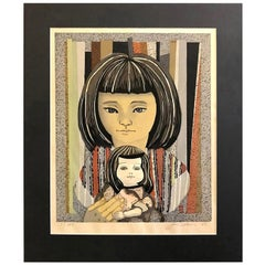 Junichiro Sekino Limited Edition Japanese Woodblock Print Mr. Ozek's Daughter