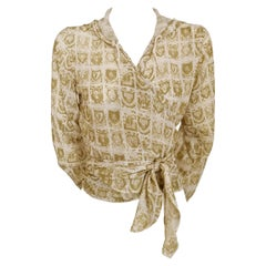 Junior Gaultier Sacred Hearts Wrap Around Hoodie Blouse by Jean Paul Gaultier