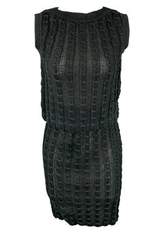 JUNKO SHIMADA Size M Charcoal Knitted Linen Pencil Skirt Set