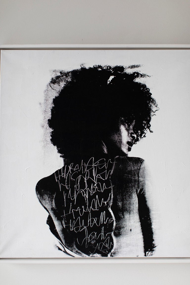 Artist: Addison Jones  Medium: Canvas, Mixed-media, acrylic Movement/Style: Street Art   condition:  This