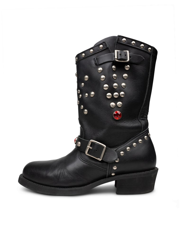 Junya Watanabe AW2002 Studded Engineer Boots In Good Condition For Sale In Beverly Hills, CA