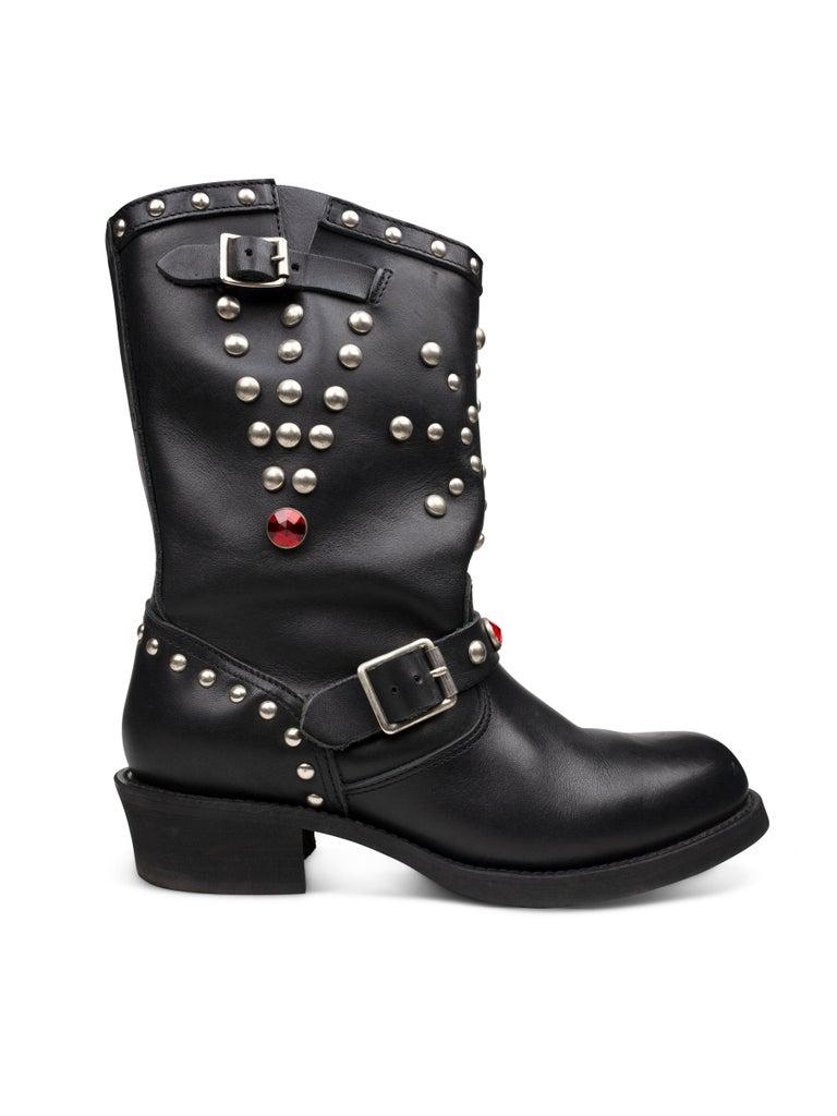 Junya Watanabe AW2002 Studded Engineer Boots For Sale 1
