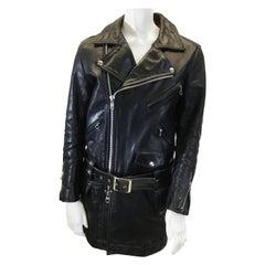 Junya Watanabe Black Leather Moto Jacket