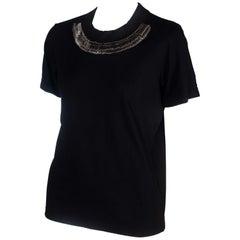 Junya Watanabe CDG Black T-shirt with Safety Pins, 2004