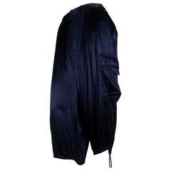 Junya Watanabe CDG Blue Satin Cargo Pants