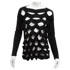 Junya Watanabe Comme des Garcon Black Cutout Sweater