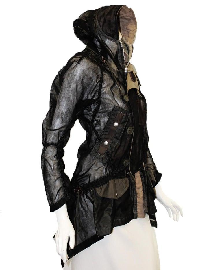 cc0cd4c8c Junya Watanabe Comme des Garcons Black Mesh Jacket