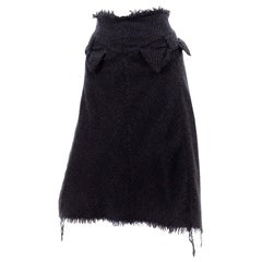 Junya Watanabe Comme des Garcons Fall Winter 2003 Distressed Gray Wool Skirt