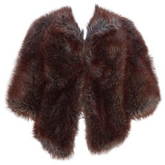 Junya Watanabe Comme des Garcons Faux Fur Cocoon Jacket