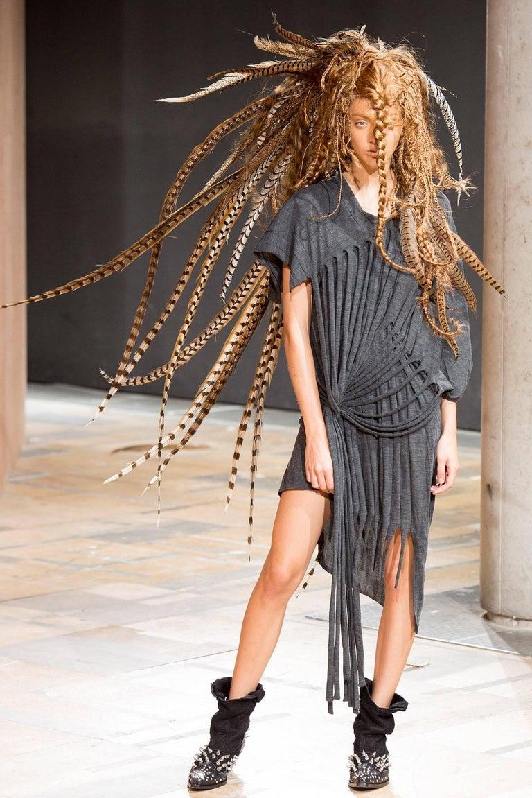 Junya Watanabe Comme Des Garcons Knit Fringe Dress For Sale 4