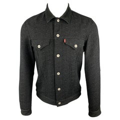 JUNYA WATANABE COMME des GARCONS LEVIS Size L Black Tweed Wool Blend Jacket