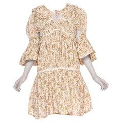 1990'S Comme Des Garçons Cotton Lawn Victorian Floral Printed Dress