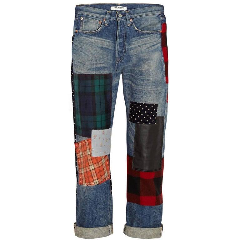 Junya Watanabe Comme Des Garcons Multicolor Patchwork Denim Jeans - XS