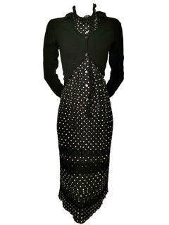 Junya Watanabe Comme des Garcons Twisted Polka Dot Cardigan Dress AD 2007
