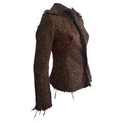 JUNYA WATANABE COMME des GARCONS Wool Jacket Brown/Burnt Orange