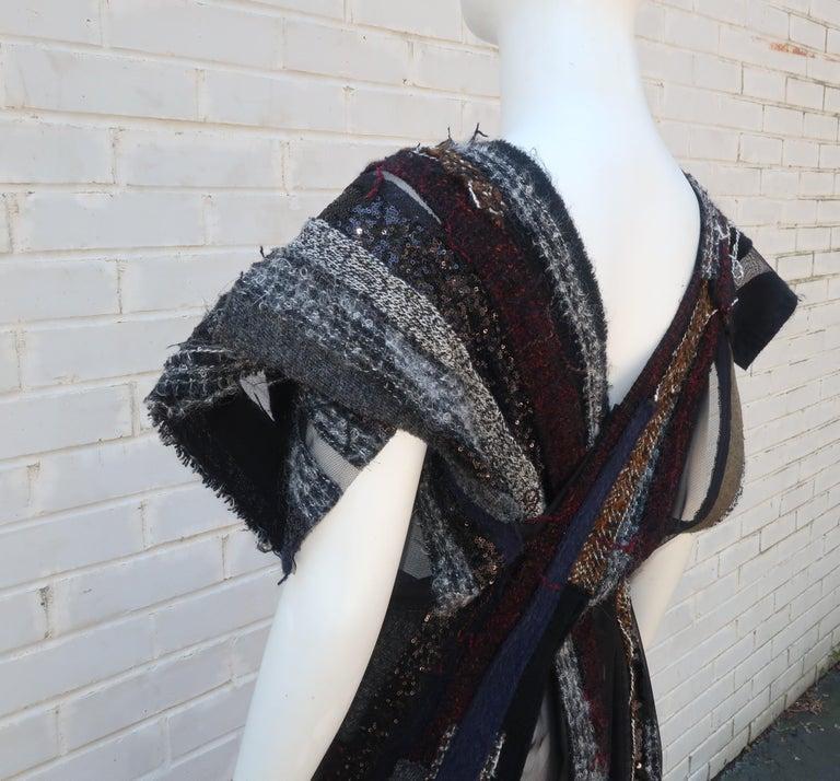 Junya Watanabe Comme des Garcons Deconstructed Wool Tweed Dress For Sale 6