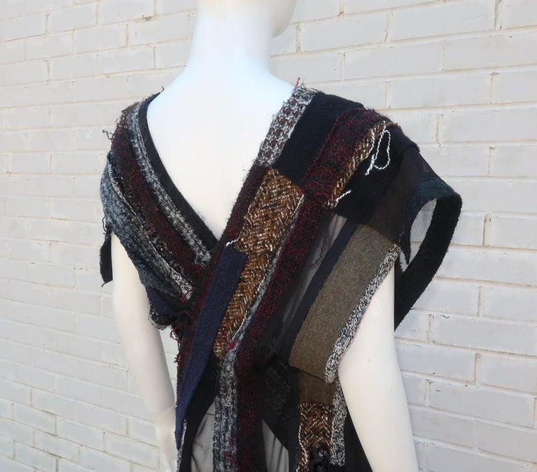 Junya Watanabe Comme des Garcons Deconstructed Wool Tweed Dress For Sale 7