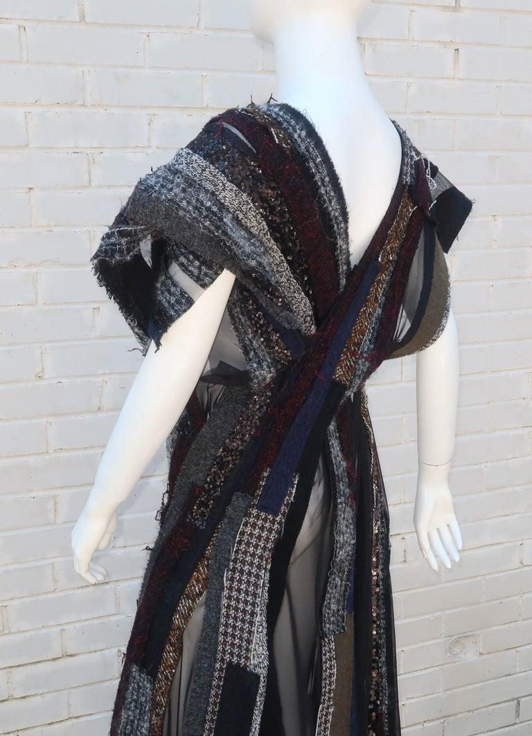 Junya Watanabe Comme des Garcons Deconstructed Wool Tweed Dress For Sale 9