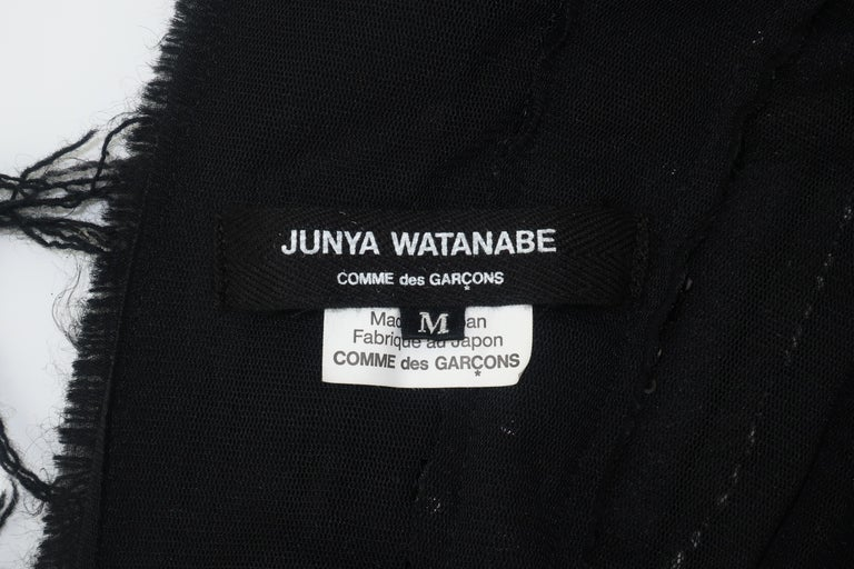 Junya Watanabe Comme des Garcons Deconstructed Wool Tweed Dress For Sale 10
