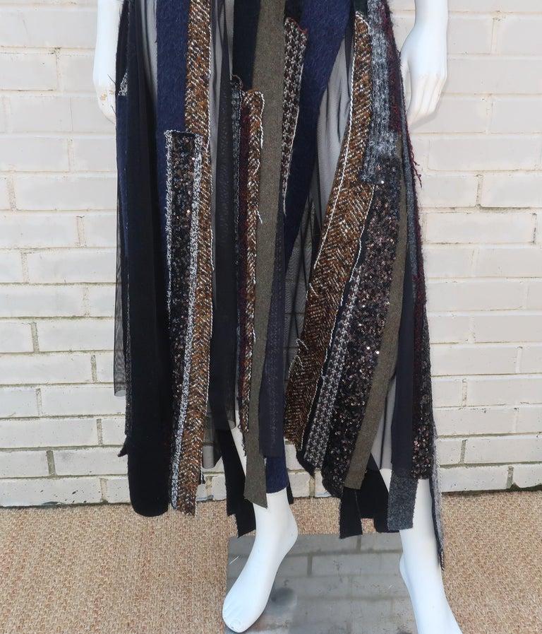 Junya Watanabe Comme des Garcons Deconstructed Wool Tweed Dress In Good Condition For Sale In Atlanta, GA