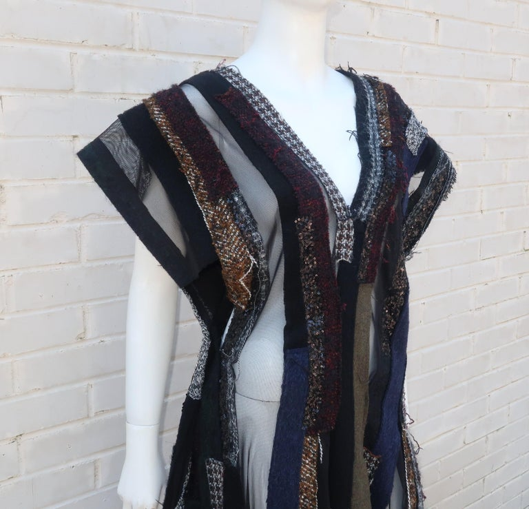 Women's Junya Watanabe Comme des Garcons Deconstructed Wool Tweed Dress For Sale