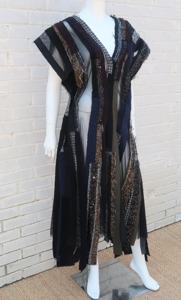 Junya Watanabe Comme des Garcons Deconstructed Wool Tweed Dress For Sale 1