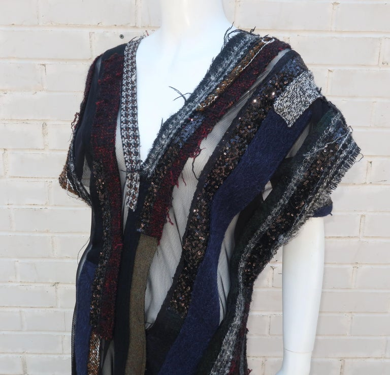 Junya Watanabe Comme des Garcons Deconstructed Wool Tweed Dress For Sale 2