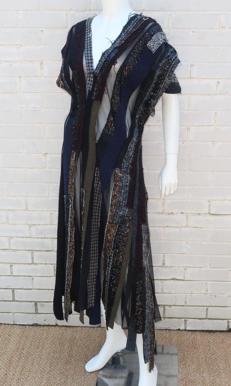 Junya Watanabe Comme des Garcons Deconstructed Wool Tweed Dress For Sale 3