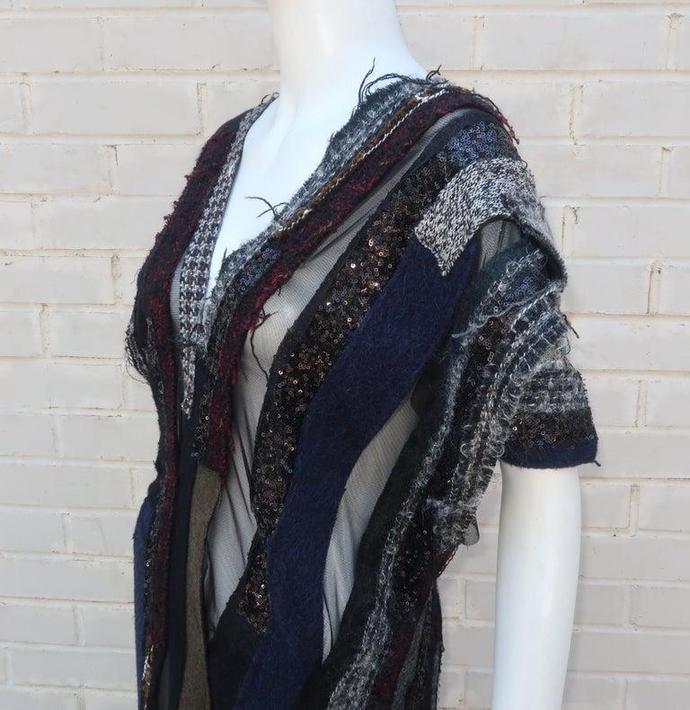 Junya Watanabe Comme des Garcons Deconstructed Wool Tweed Dress For Sale 4