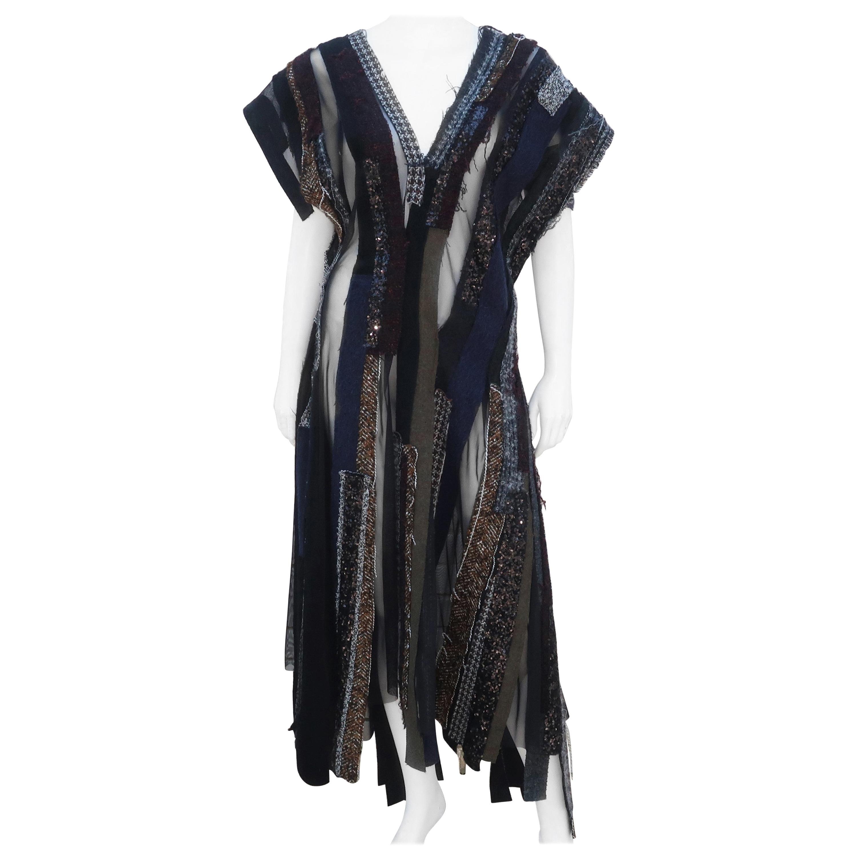 Junya Watanabe Comme des Garcons Deconstructed Wool Tweed Dress