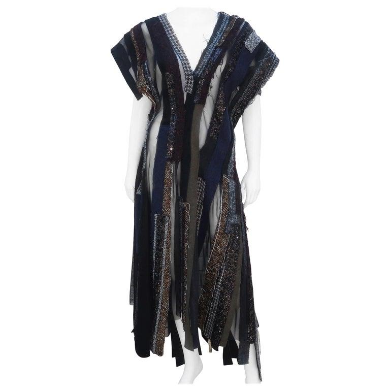 Junya Watanabe Comme des Garcons Deconstructed Wool Tweed Dress For Sale