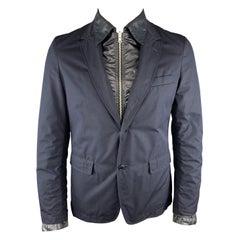JUNYA WATANABE L Navy Mixed Fabrics Cotton / Polyester Reversible Jacket