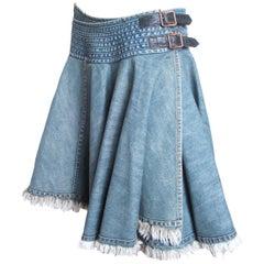 Junya Watanabe MAN Denim Skirt with Buckles 2004