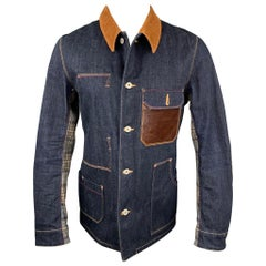 JUNYA WATANABE Size L Indigo Mixed Materials Denim Jacket