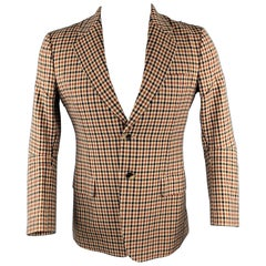 JUNYA WATANABE Size L Tan Plaid Wool Notch Lapel Sport Coat