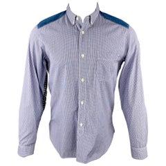 JUNYA WATANABE Size M Navy & White Checkered Cotton Button Down Shirt