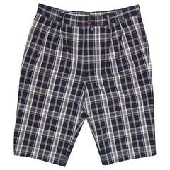 JUNYA WATANABE Size S Navy & White Plaid Cotton Shorts