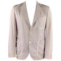 JUNYA WATANABE Size XL Red White Blue Window Pane Cotton Jacket
