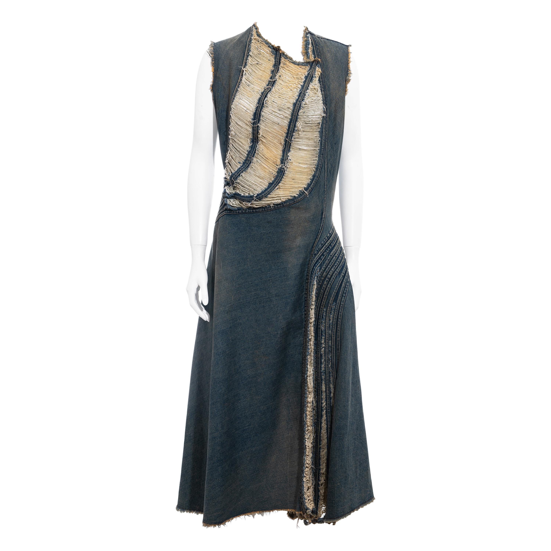 Junya Watanabe stone-wash denim dress, ss 2002