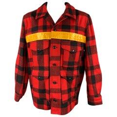 JUNYA WATANABE x FILSON Size XXL Red & Black Buffalo Plaid Wool Jacket