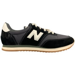 JUNYA WATANABE x NEW BALANCE Size 9 Black Mixed Materials Nylon Lace Up Sneakers