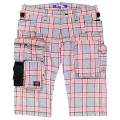 Junya Watanabe x Porter SS2005 Plaid Cargo Shorts