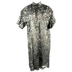 JUNYA WATANAME Comme des Garcons Black Linen Shirt Dress Size XS