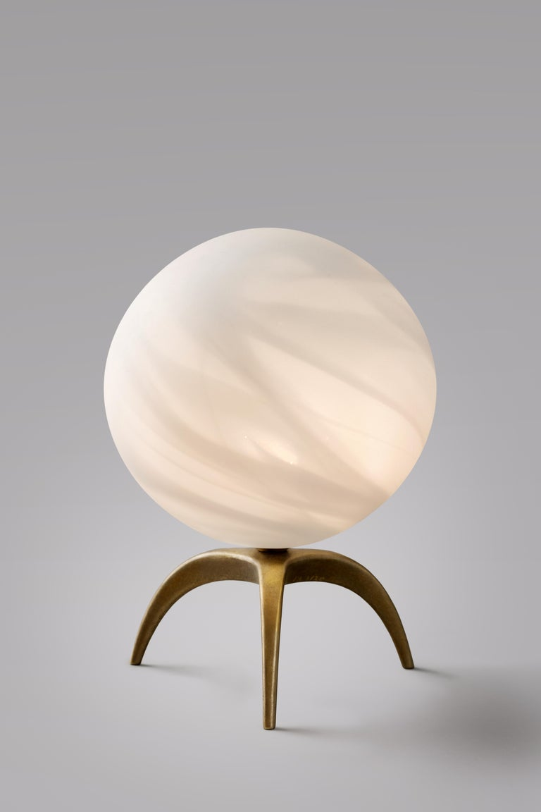 Jupiter Blown Glass Table Lamp, Ludovic Clément d'Armont In New Condition For Sale In Collonge Bellerive, Geneve, CH