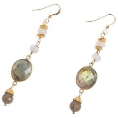 Jupiter Labradorite Moonstone Earrings
